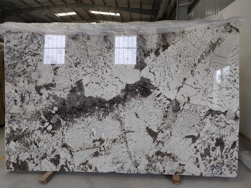 Alpine White Polished Granite Indian Beautiful White Granite Slabs
