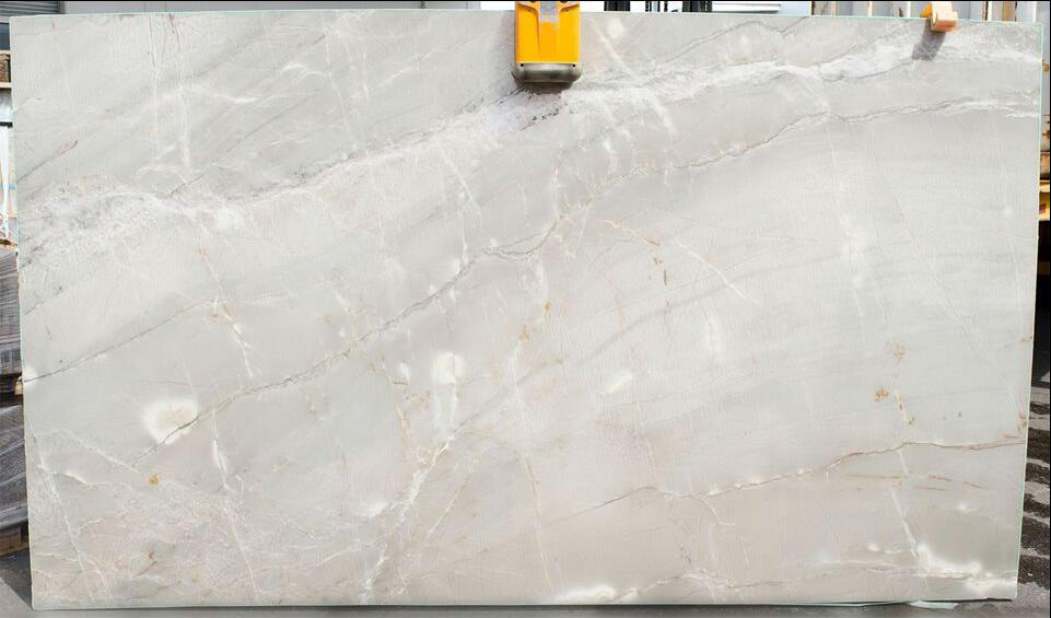 Amarelo Gabana White Quartzite Polished Slabs