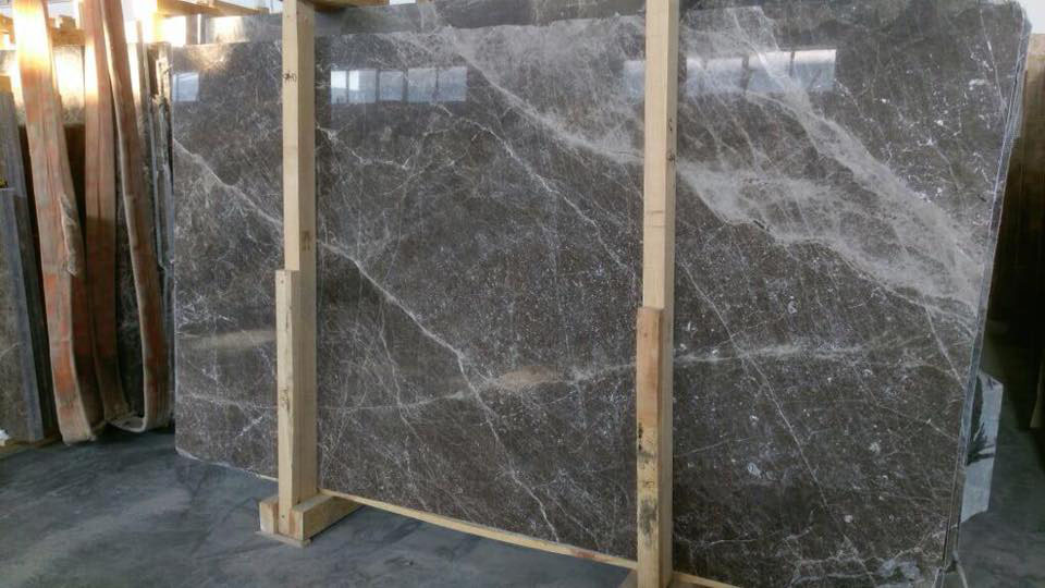 Amber Brown Polished Marble Slabs from Turkey