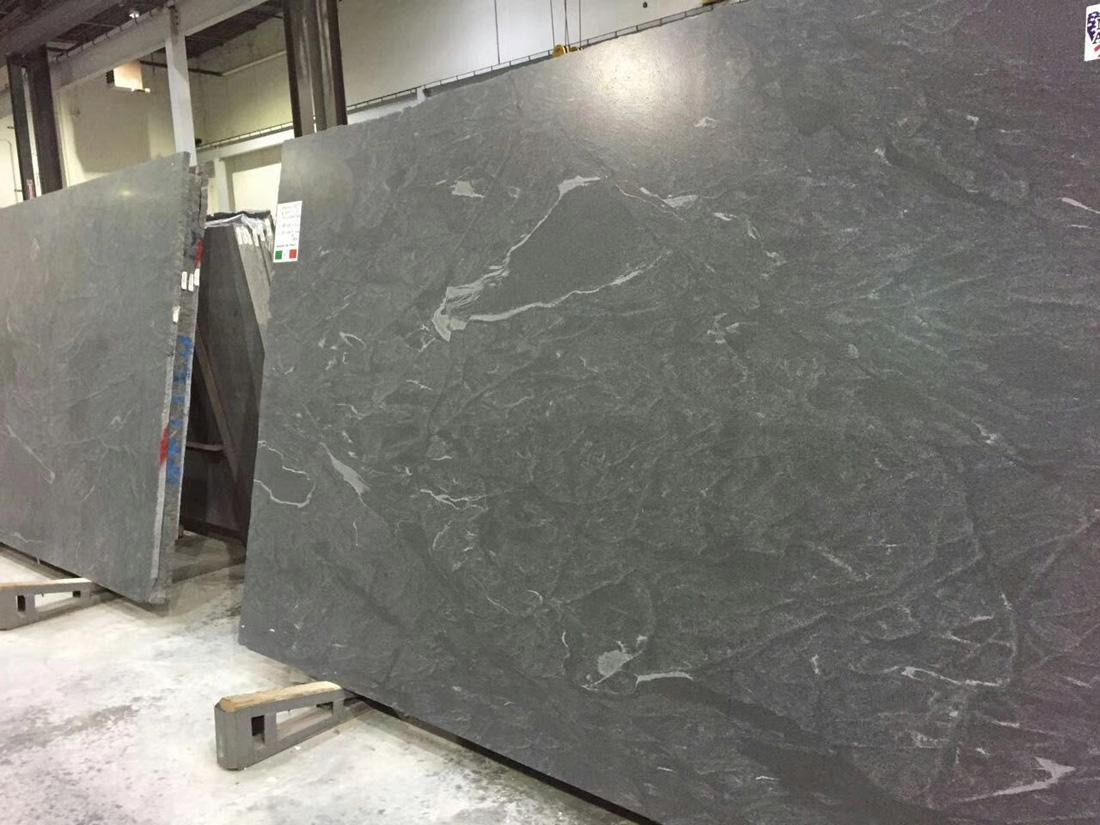 American Virginia Black Jet Mist Black Granite Slabs