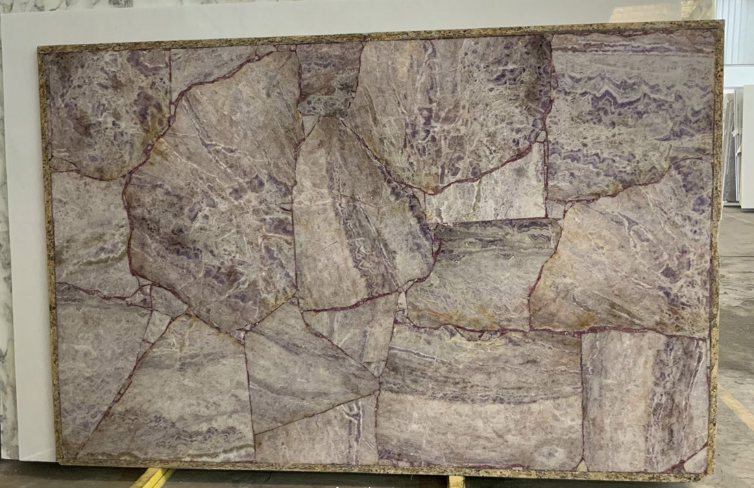 Amethyst Semiprecious Stone Slabs for Countertops