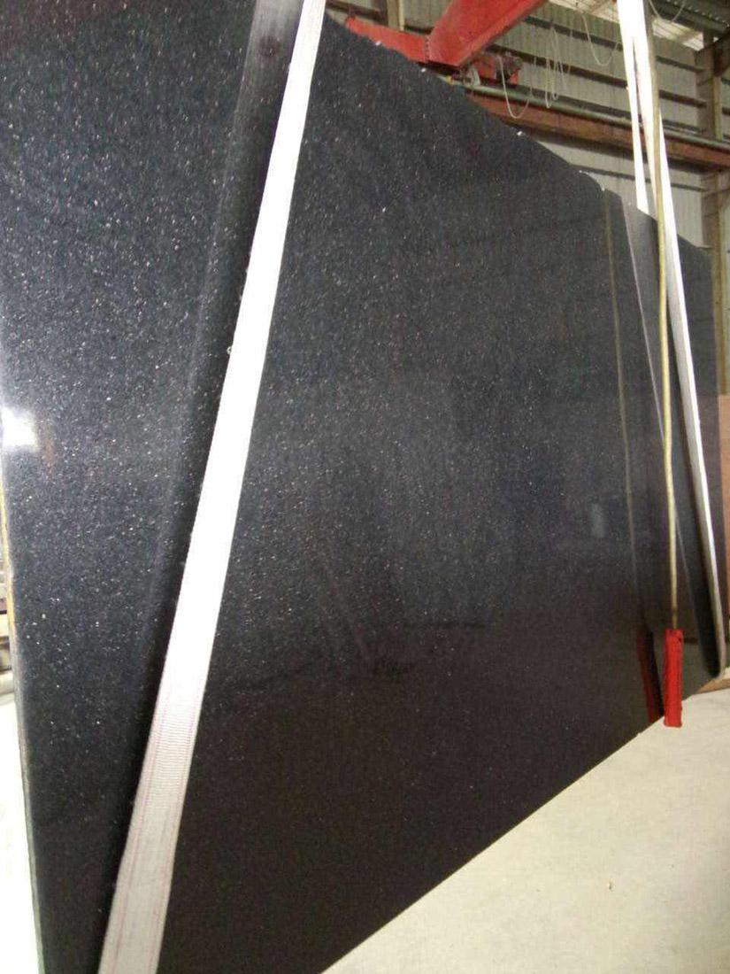 Ametista Star Golden Black Galaxy Polished Indian Black Granite Slabs Granite Slabs