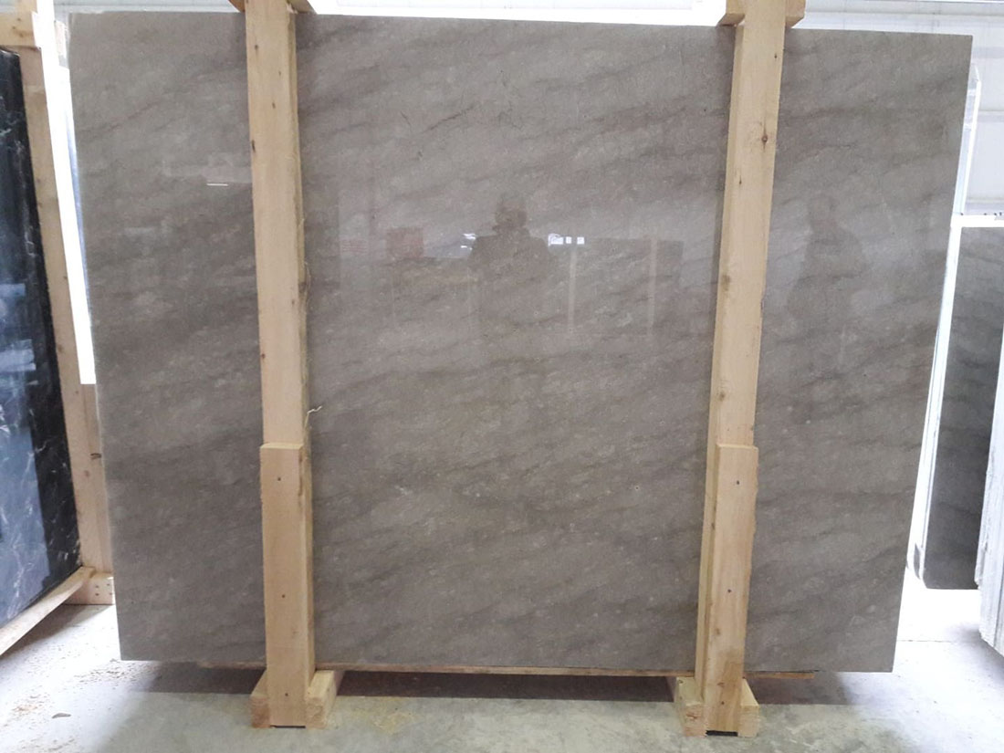 Anatolian Grey 2cm Slabs Polished Grey Marble Slabs