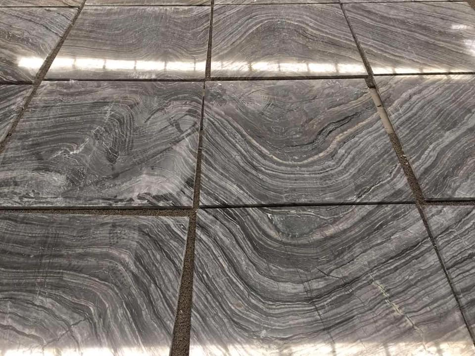 Ancient Wood Marble Tiles Polished Grey Marble Tiles for Flooring