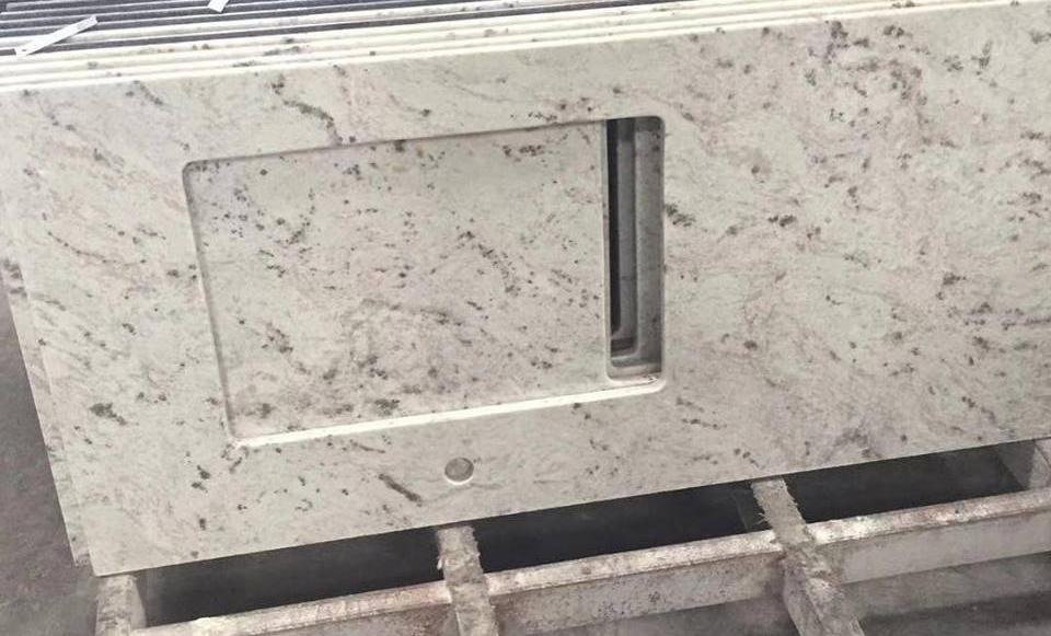 Andrameda White Granite Polished White Granite Kitchen Countertops