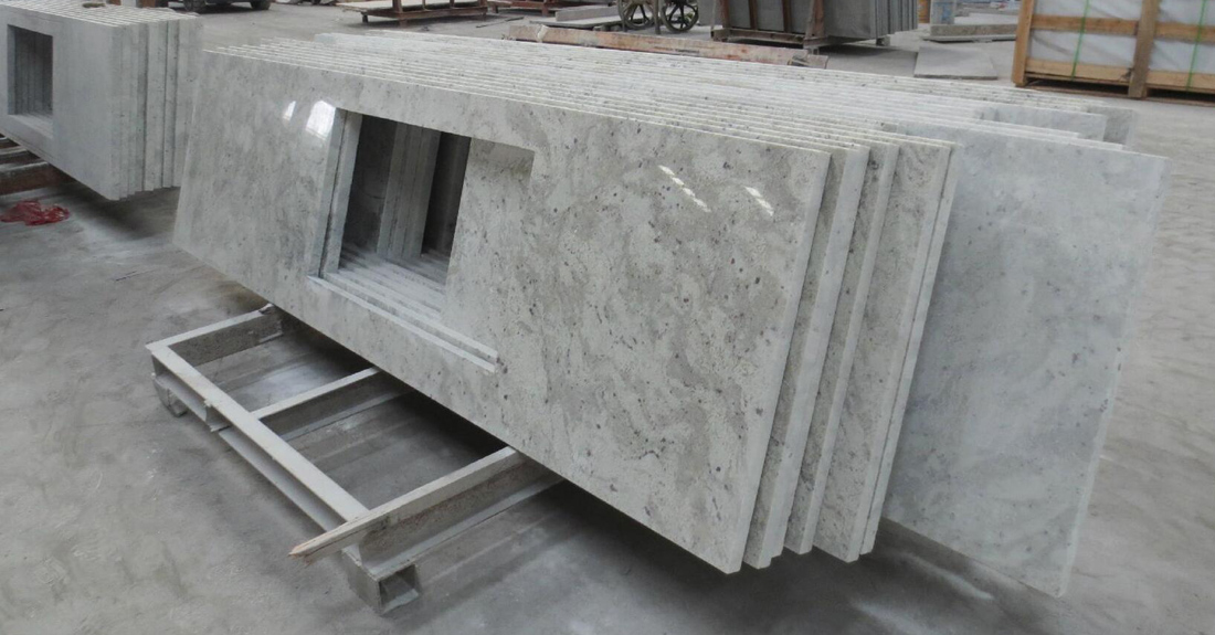 Andromeda White Granite Polished Granite Kitchen Countertop