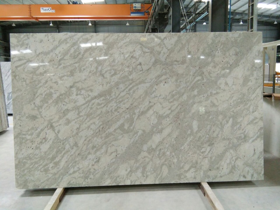 Andromeda White Granite Polished White Granite Slabs with Top Quality