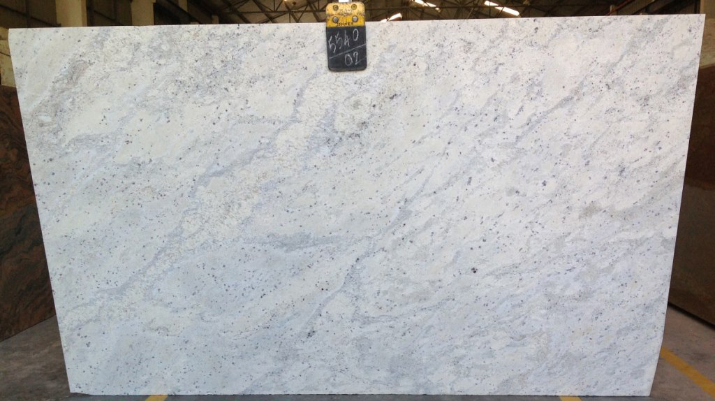 Andromeda White Granite Slabs Polished White Granite Slabs