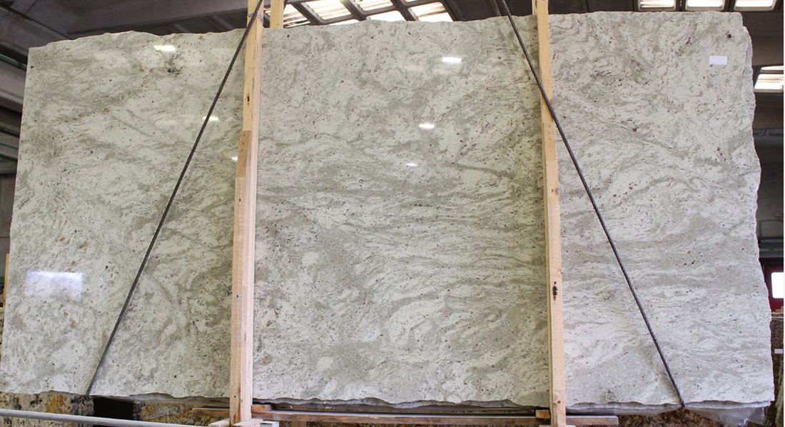 Andromeda White Polished Granite Slabs Indian Granite Slabs