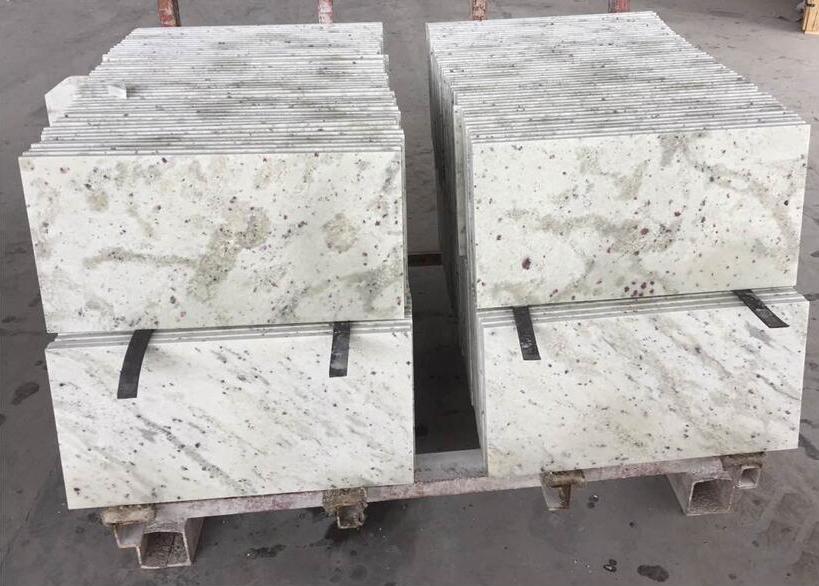 Andromeda White Tile White Polished Granite Tiles