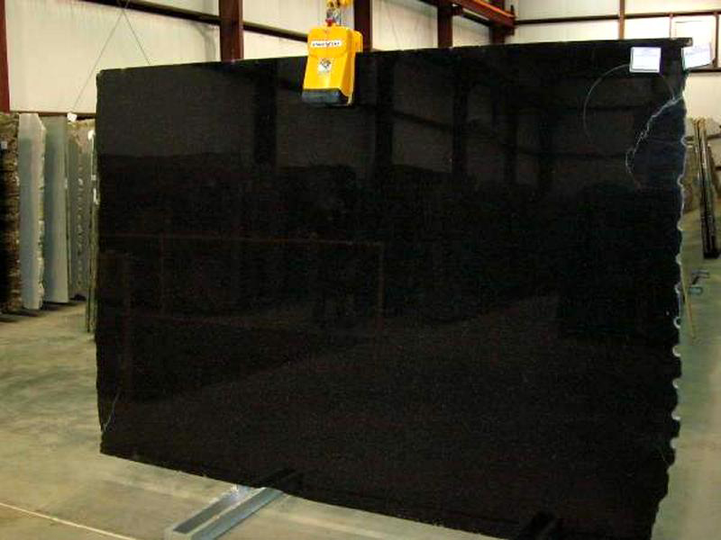 Angola Black Granite Polished Slab Competitive Black Granite Stone Slabs
