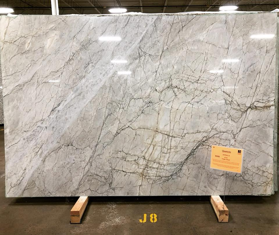 Antigua Quartzite White Polished Quartzite Slabs