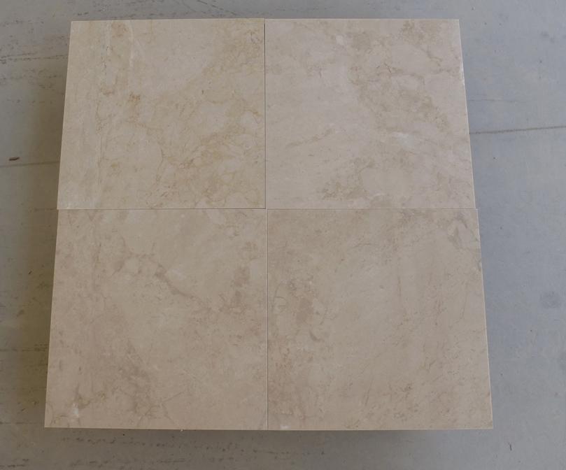 Antique Beige Marble Tiles Polished Turkish Marble for Flooring