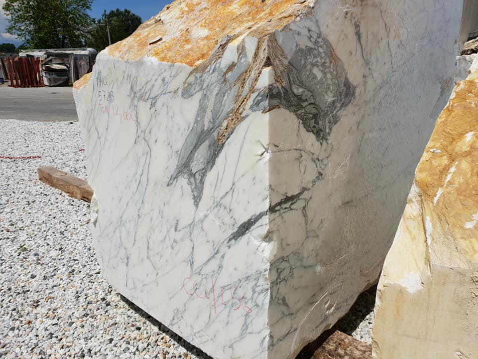 Arabescato Blocks White Natural Marble Blocks