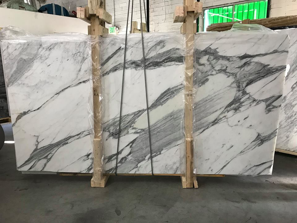 Arabescato Cervaillo White Marble Slabs from Italy