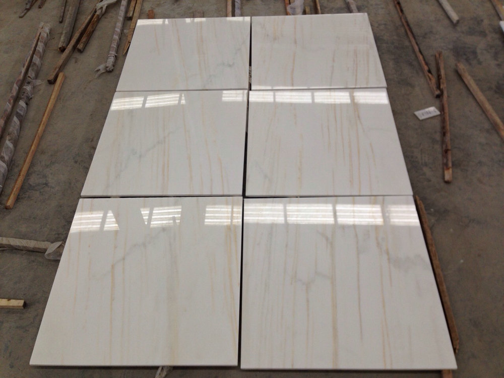 Arabescato Gold Marble Polished Tiles with Top Quality