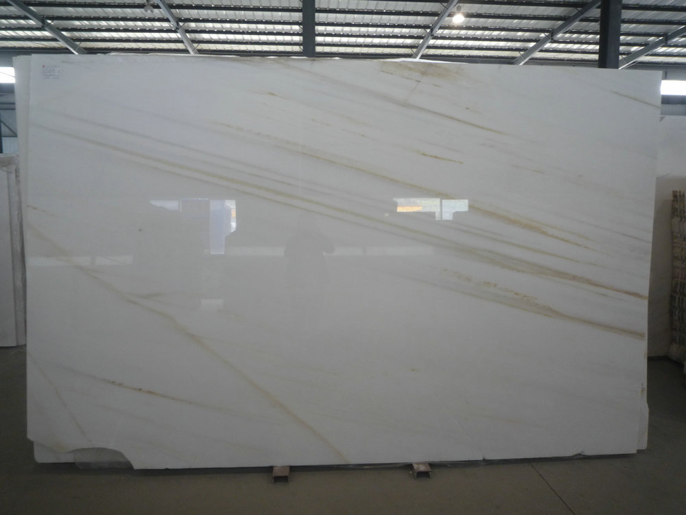 Arabescato Gold Marble Slabs Polished White Marble Slabs