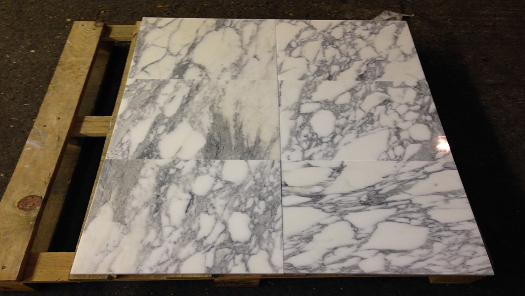 Arabescato Marble Tiles White Polished Marble Flooring Tiles