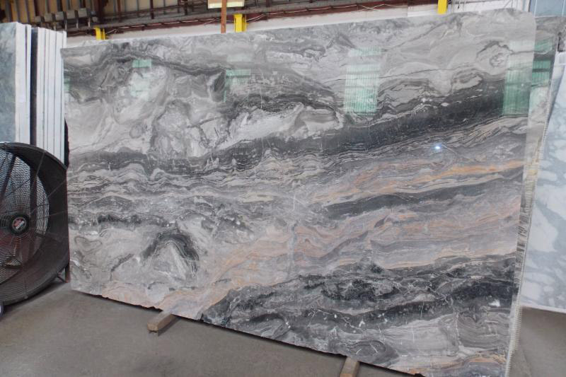 Arabescato Orobico Italian Polished Brown Marble Slabs