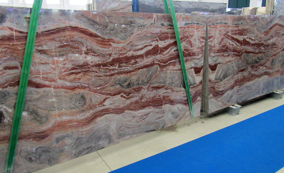 Arabescato Orobico Rosso Slabs Italian Red Marble Slabs