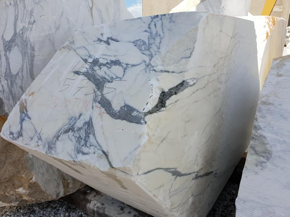 Arabescato White Marble Blocks and Slabs