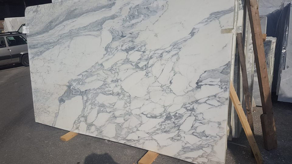 Arabescato White Marble Slabs 2cm Honed Slabs