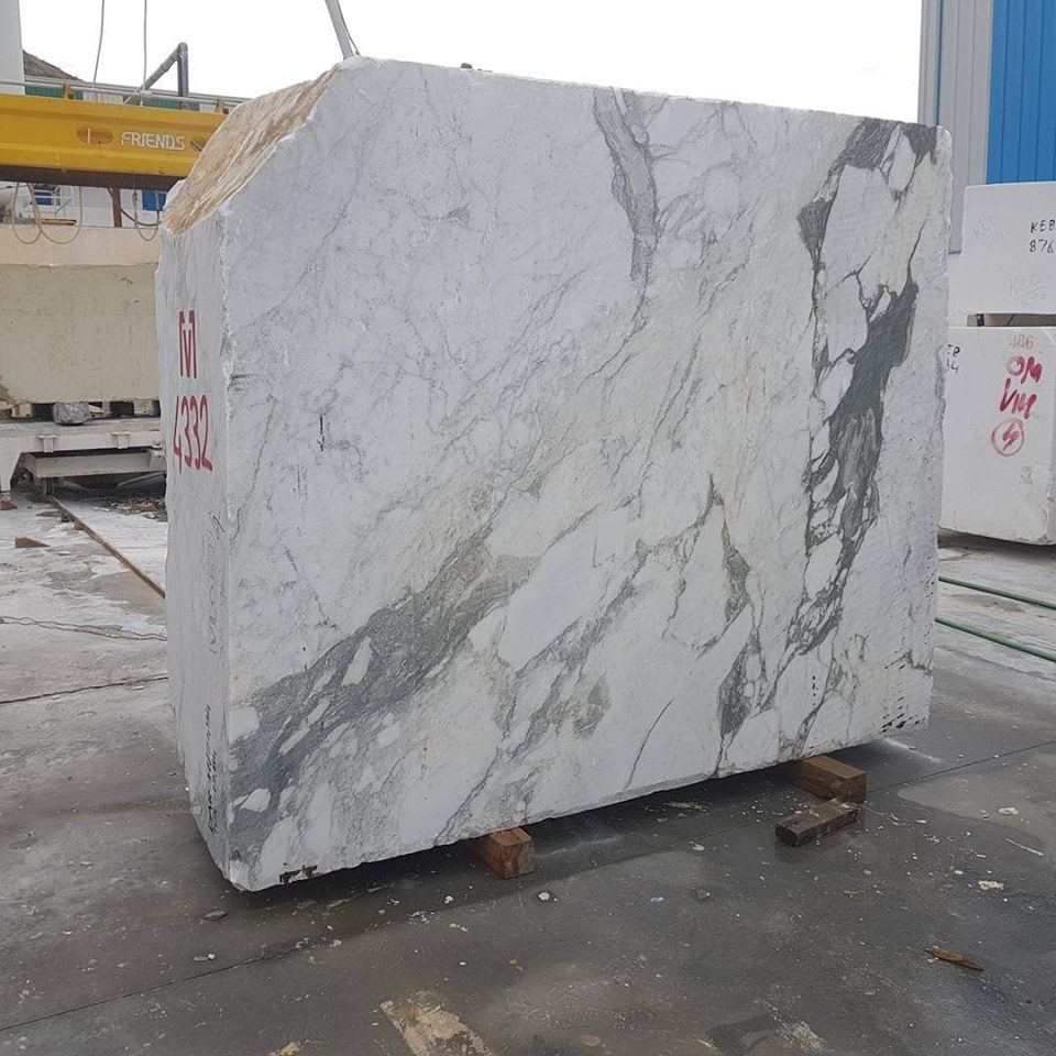 Arbescato Marble Block Natural White Marble Blocks