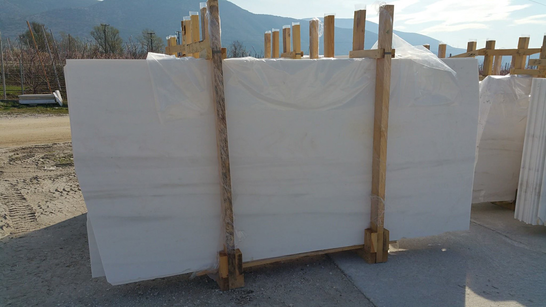 Arctic White Marble Slabs Polished White Marble Slabs