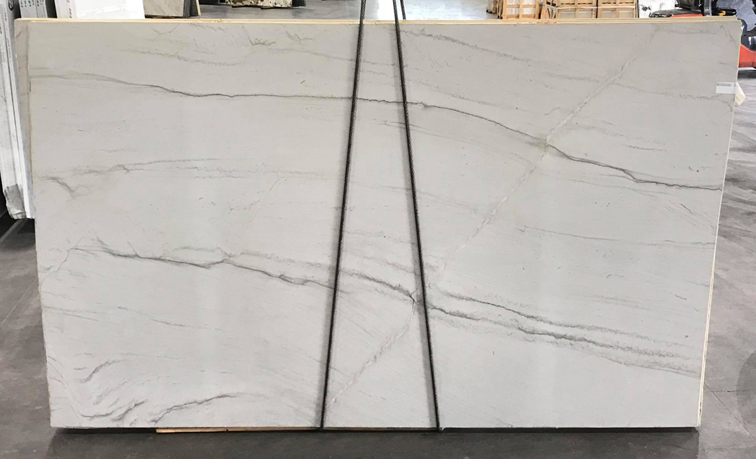 Aria Leathered White Quartzite Slabs