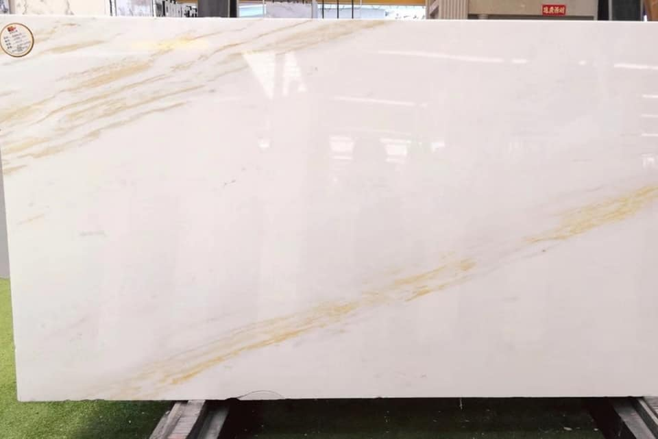 Ariston Marble with Golden Veins White Polished Natural Stone Slabs