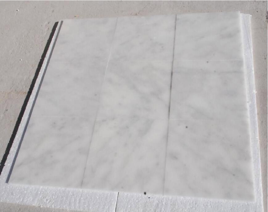 Ariston White Polished Marble Tiles for Flooring