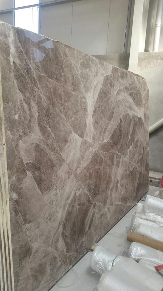 Arrana Marron Polished Brown Marble Slabs