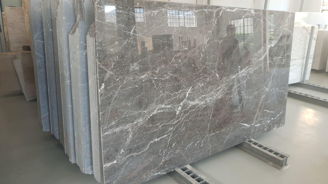 Ash Grey Slabs Polished Grey Marble Slabs