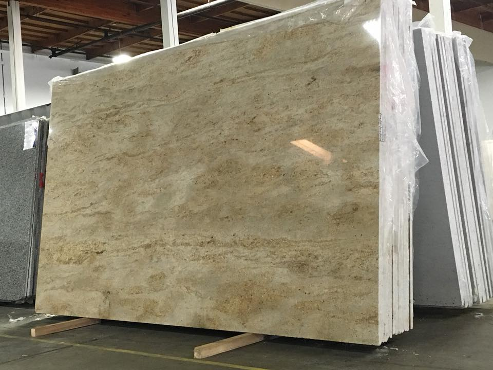 Astoria Cream Beige Polished Granite Slabs