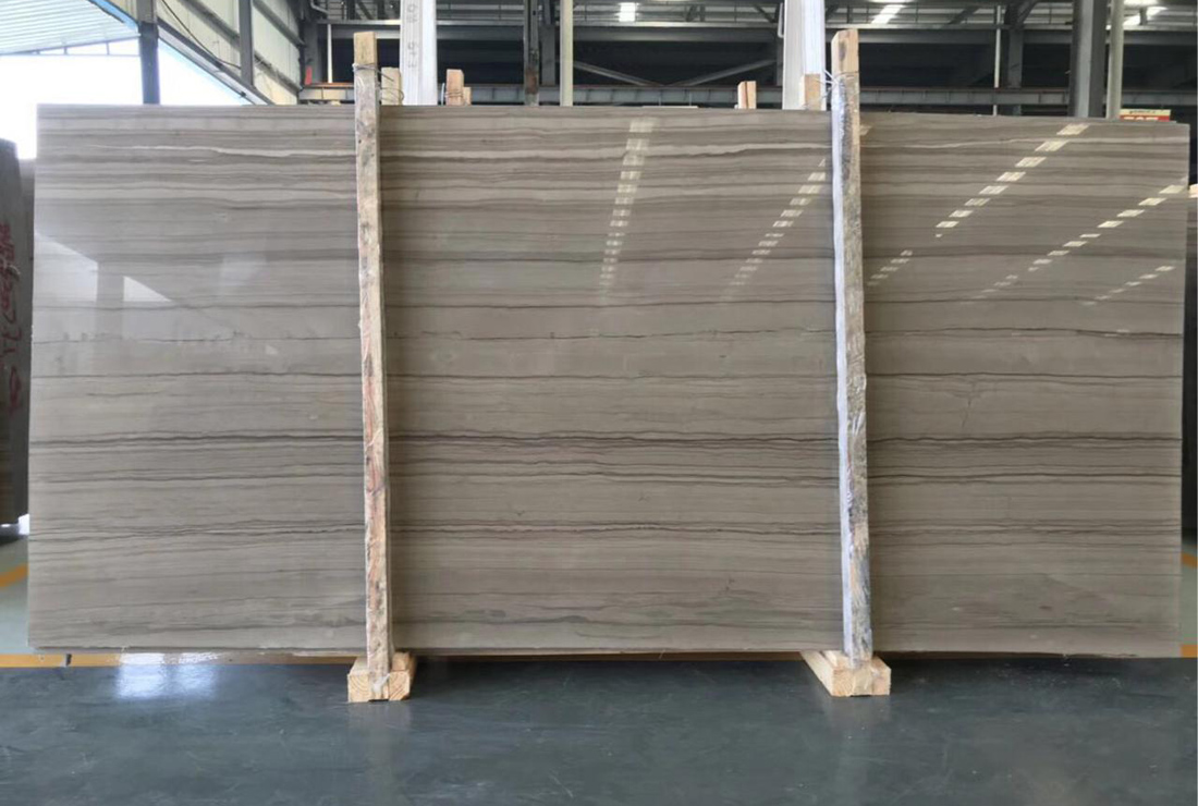 Athen Sandal Wood Marble Slabs Top Quality Chinese Grey Marble Slabs