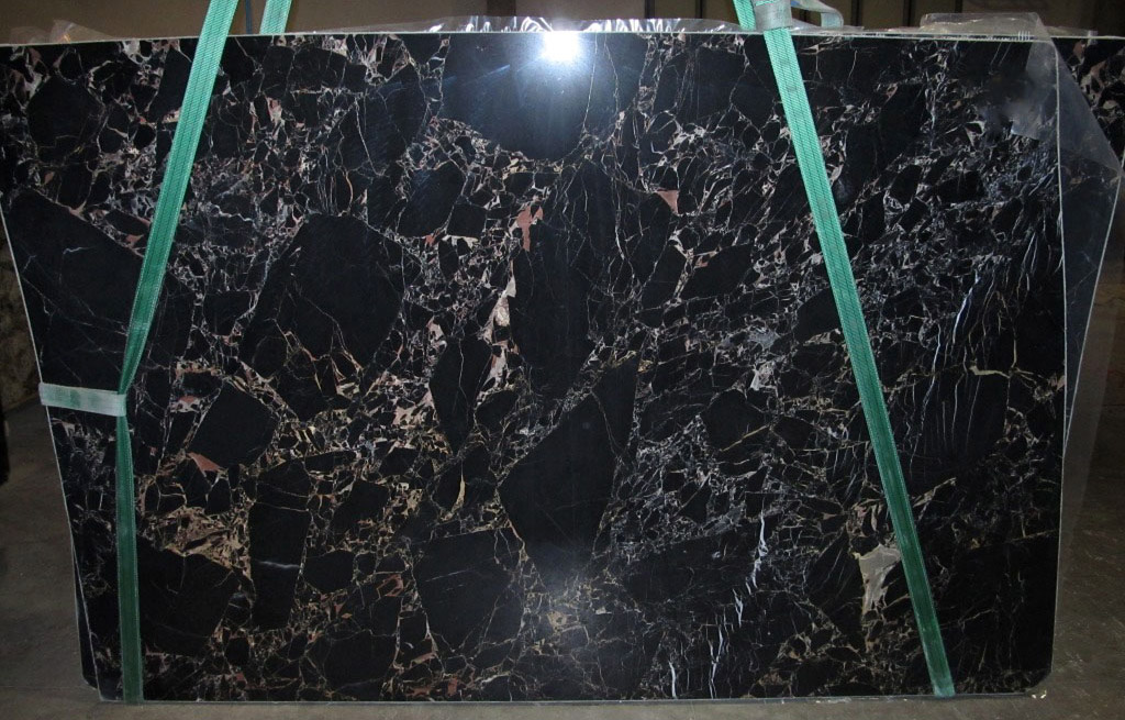 Athena Gold Slabs Polished Black Marble Slabs