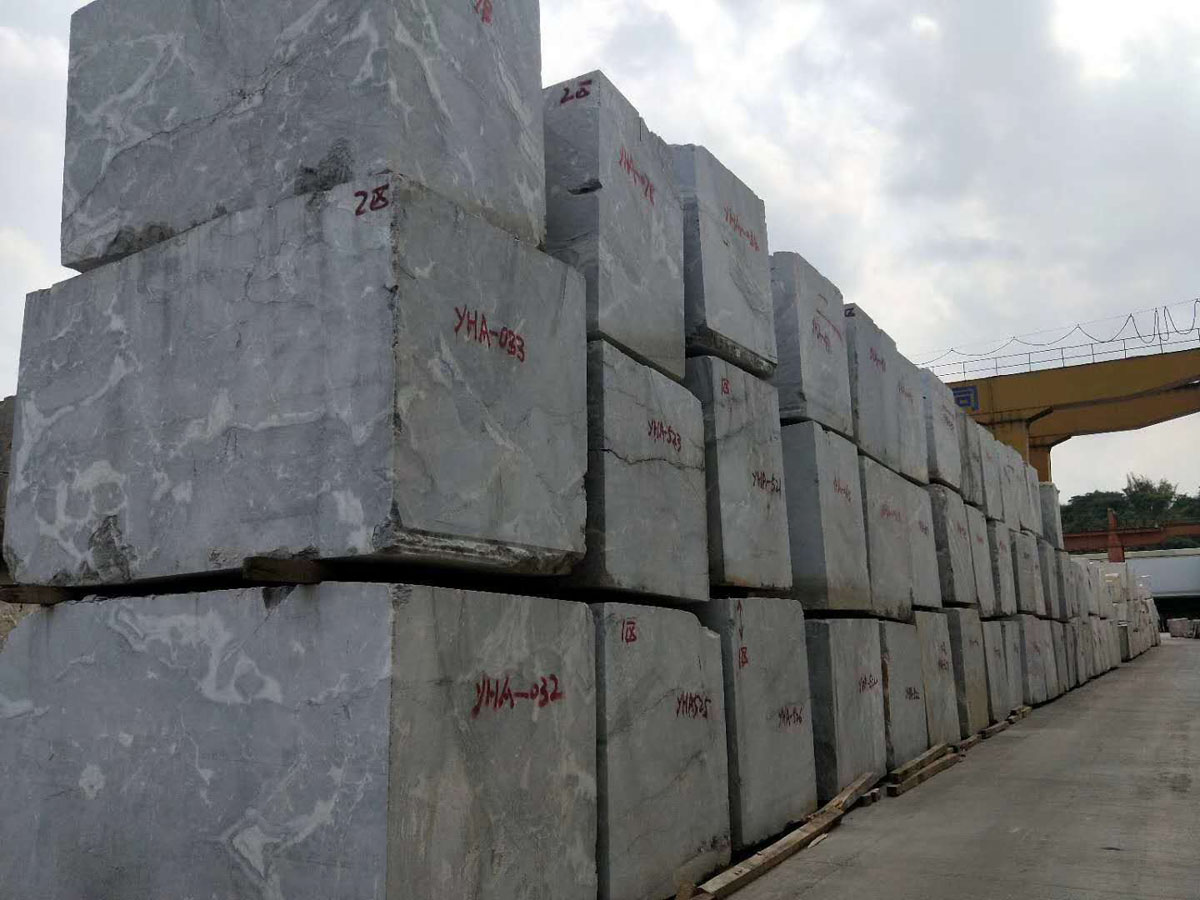 Athena Grey Marble Blocks