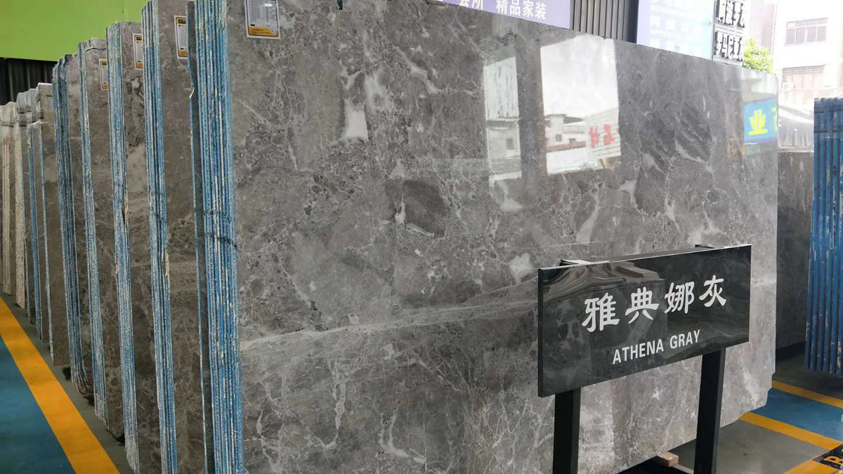 Athena Grey Marble Slabs and Tiles