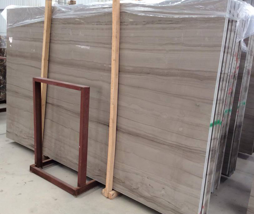 Athens Wood Grey Slabs Polished Chinese Grey Slabs