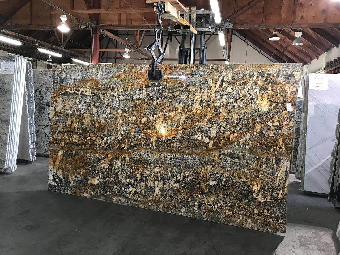 Audax Gold Slabs Brown Granite Polished Slabs