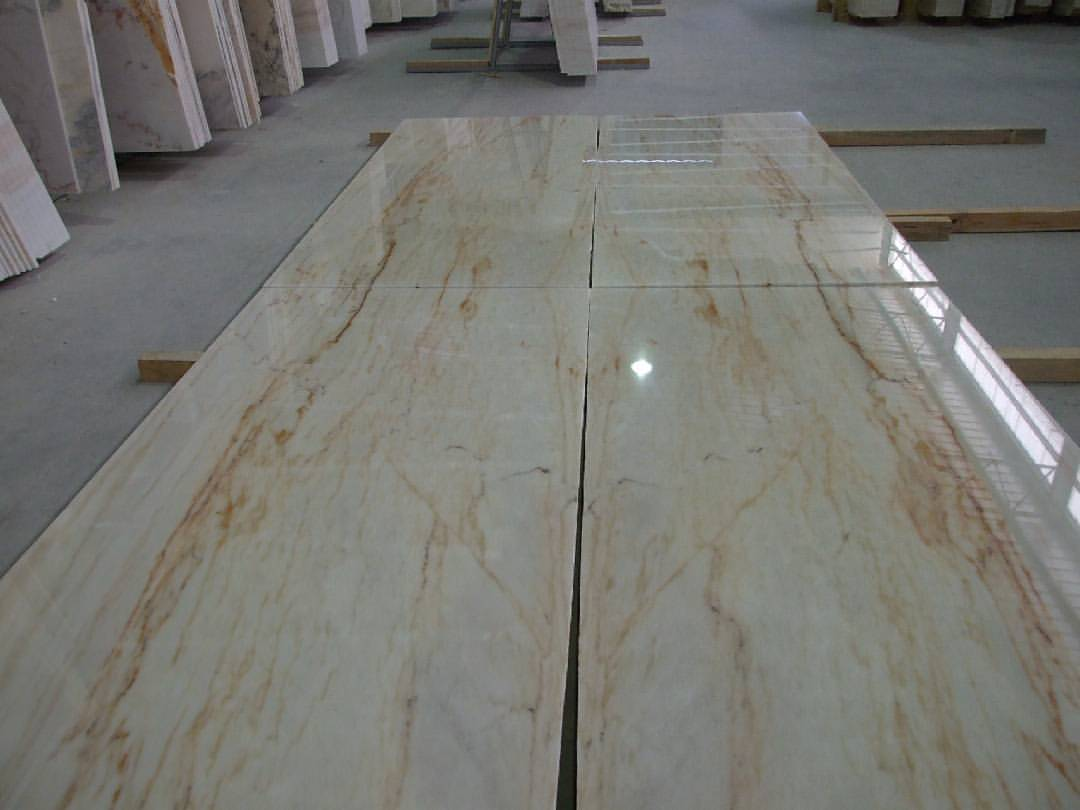 Aurora Gold Marble Tiles Polished Beige Marble Tiles