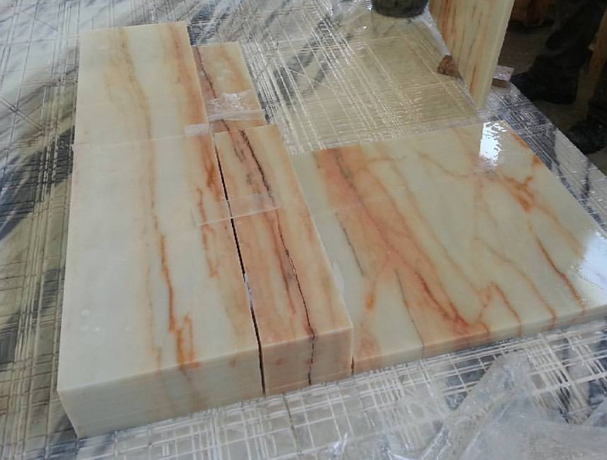 Aurora Gold Marble Tiles Polished Marble Tiles for Flooring