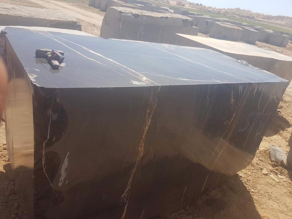 Aziza Black Marble Blocks from Tunisia