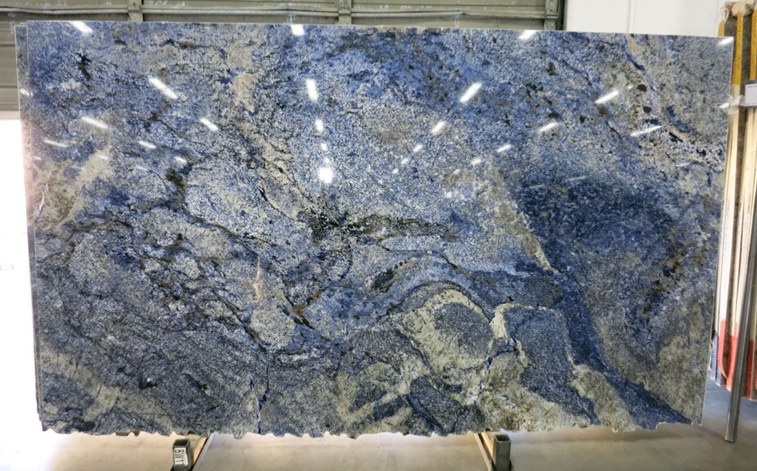 Azul Bahia 3cm Granite Slabs Blue Polished Granite Stone Slabs