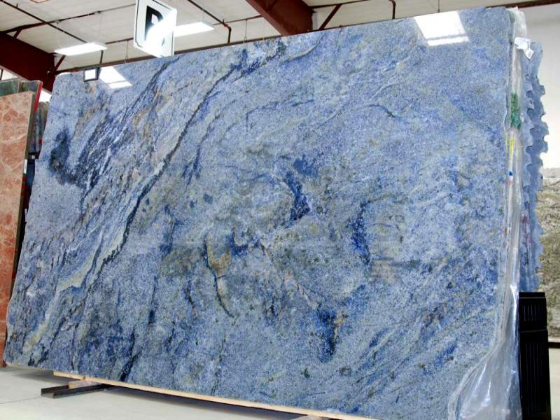 Azul Bahia Granite Slab Blue