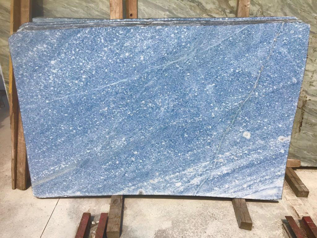 Azul Cielo Blue Marble Slabs from Italy Supplier