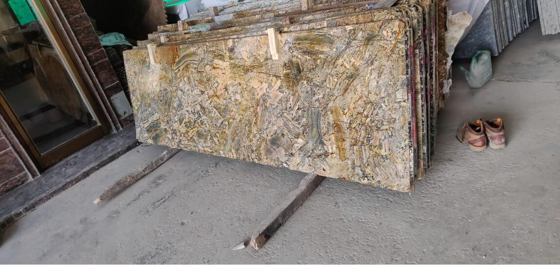 Azul Gold Granite Slabs Indian Beige Granite Slabs