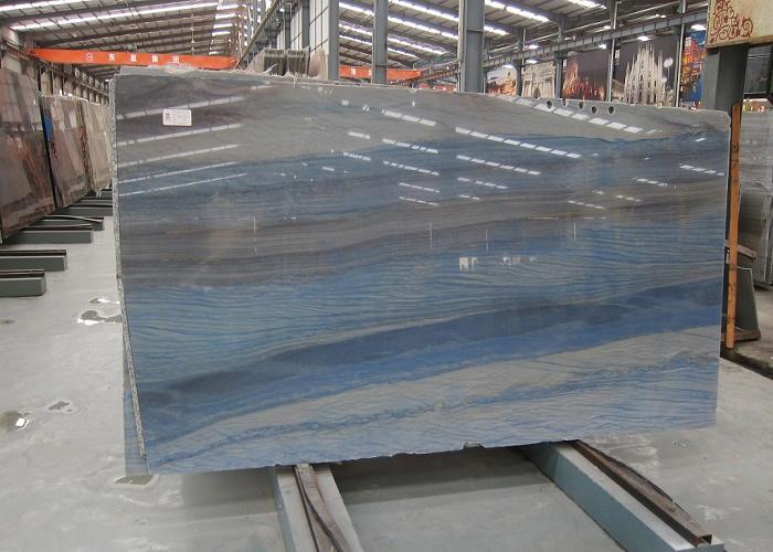 Azul Imperial Blue Quartzite Polished Slabs