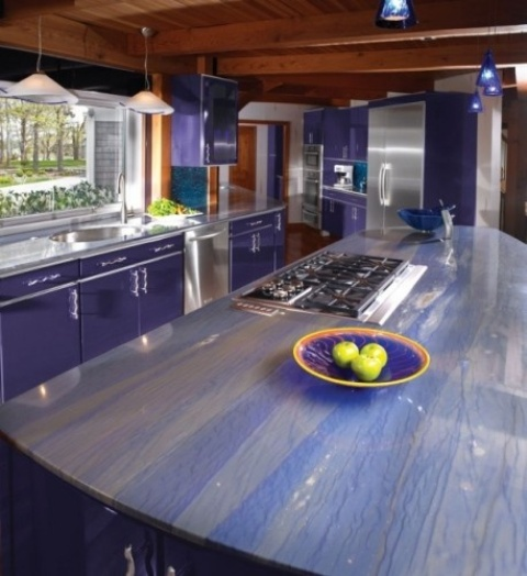 Azul Macaubas Natural Blue Quartzite Island Countertops