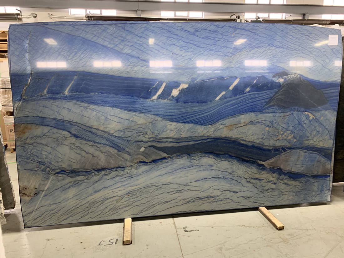 Azul Macaubas Quartzite Slabs Polished Blue Quartzite Stone Slabs